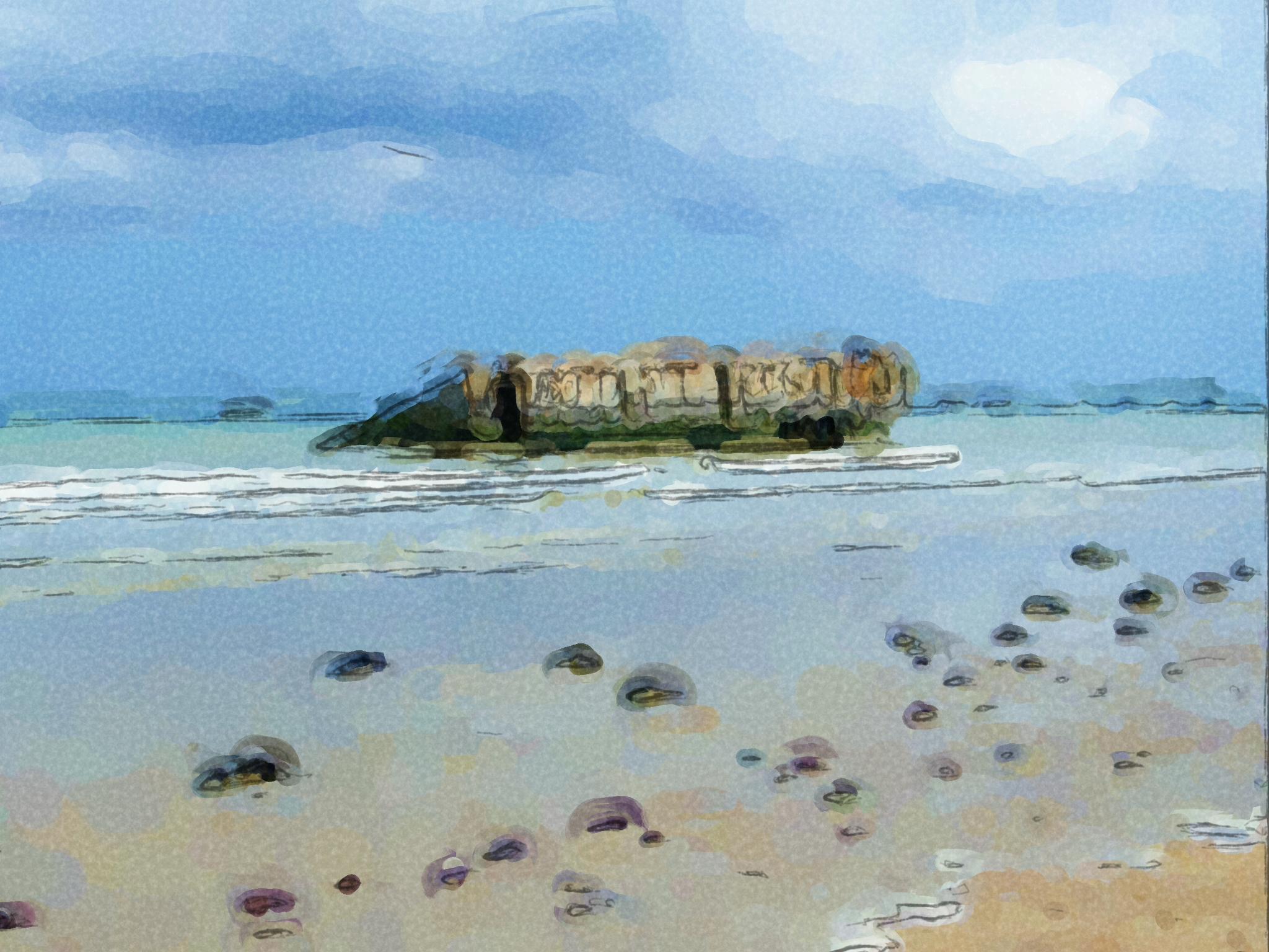 Mulberry Harbour Painting