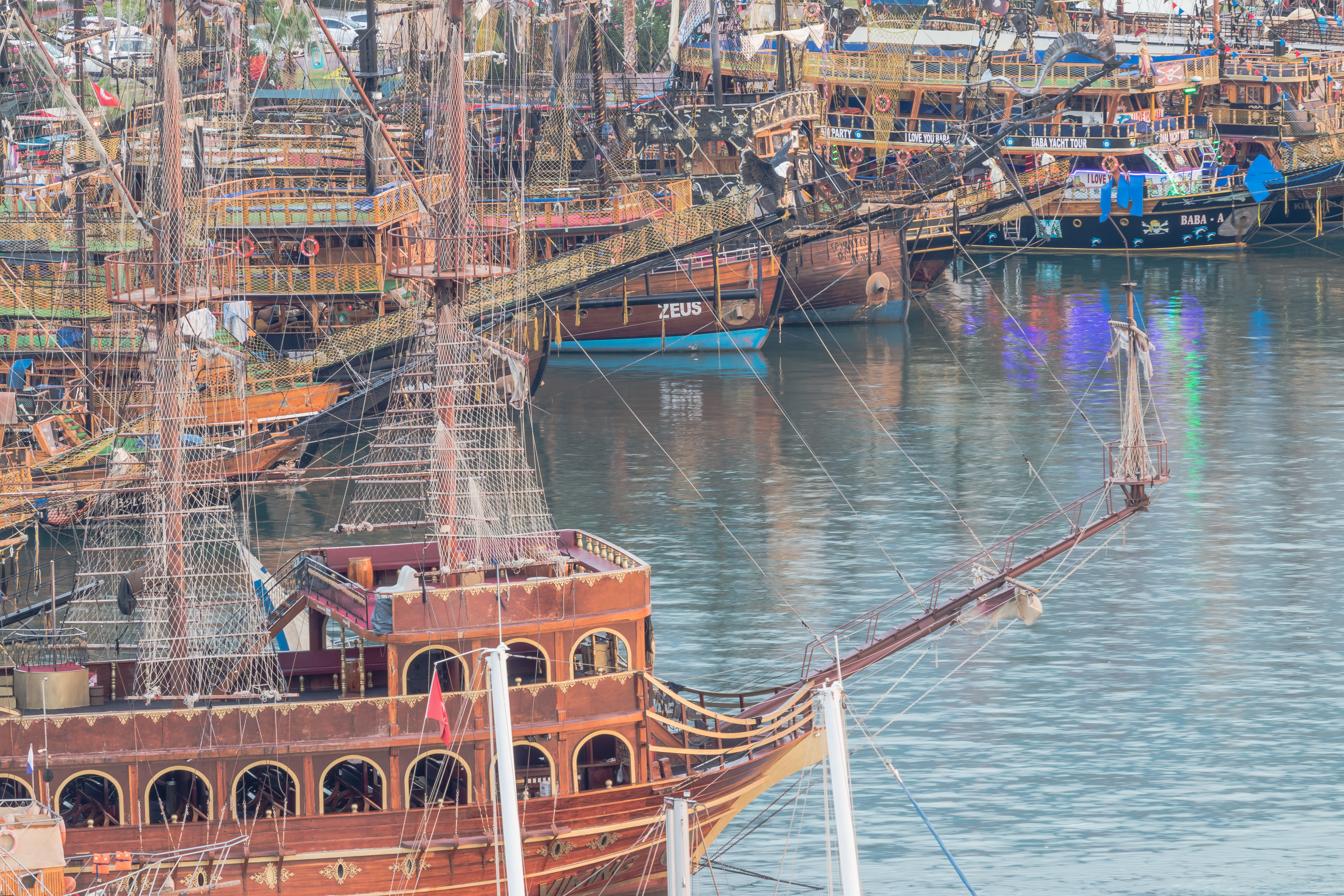 Pirate ships in Alanya port