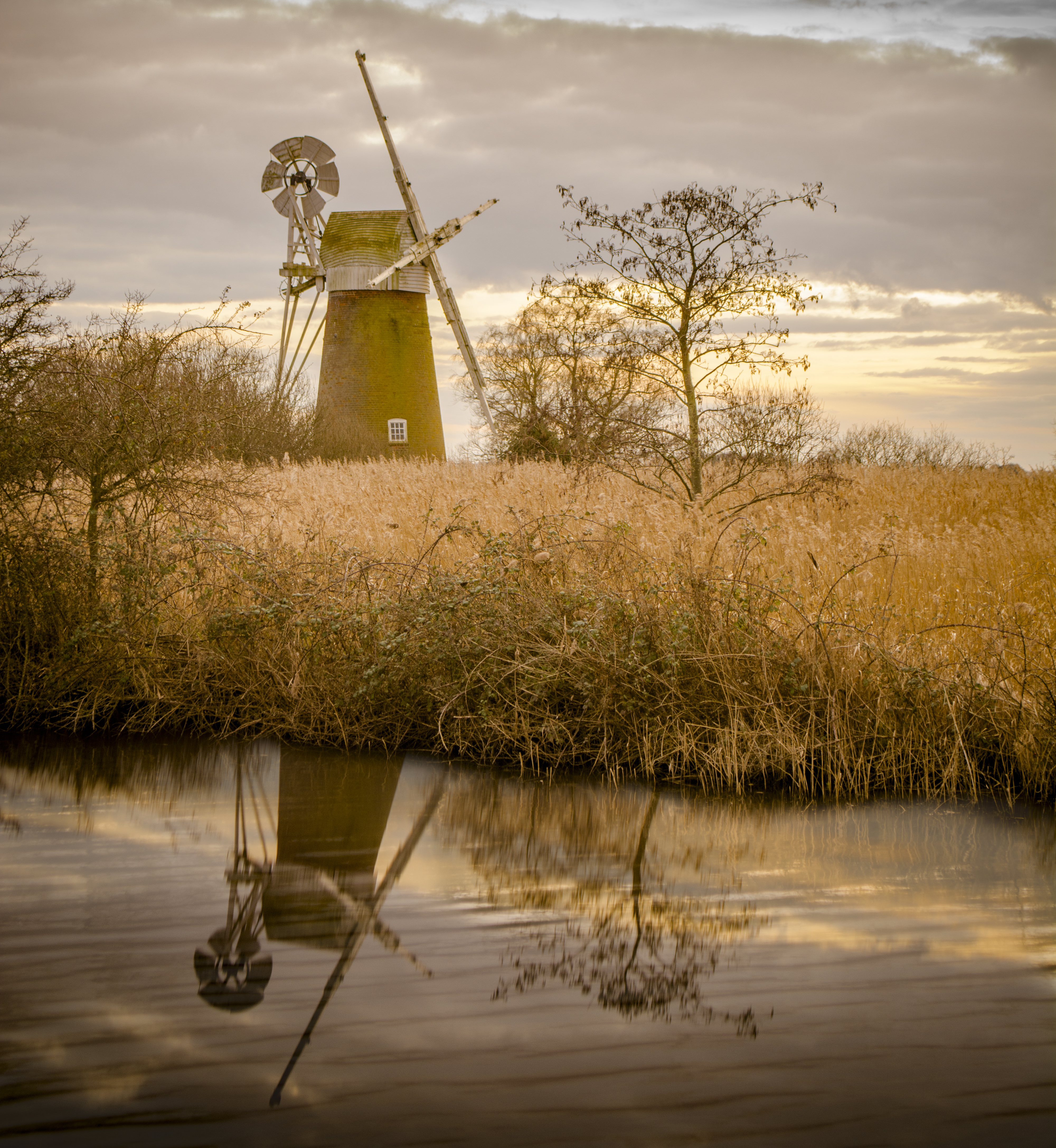Windmill relected in the river.jpg