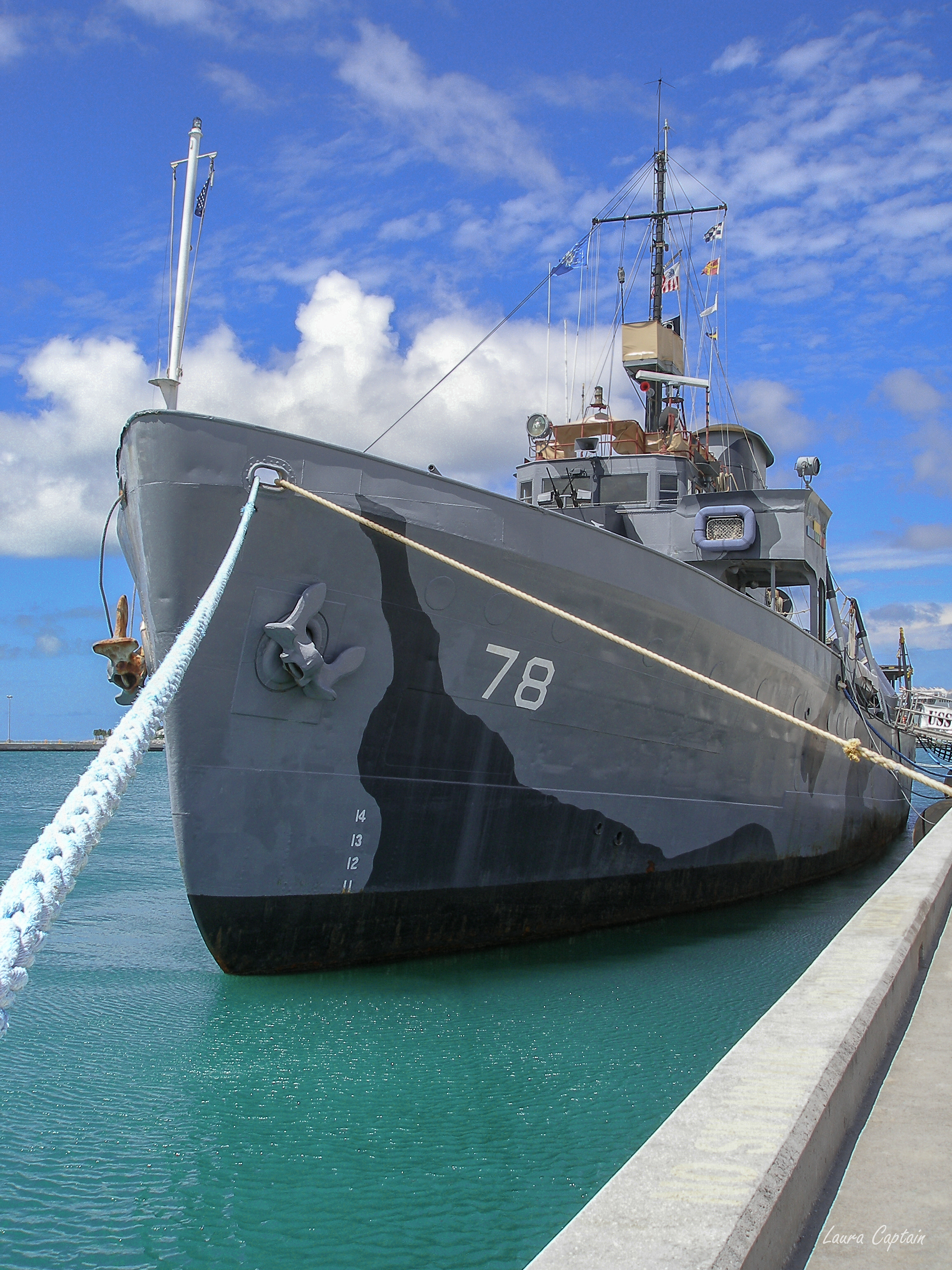 USS Mohawk Navy combat ship, Key West, FL, USA
