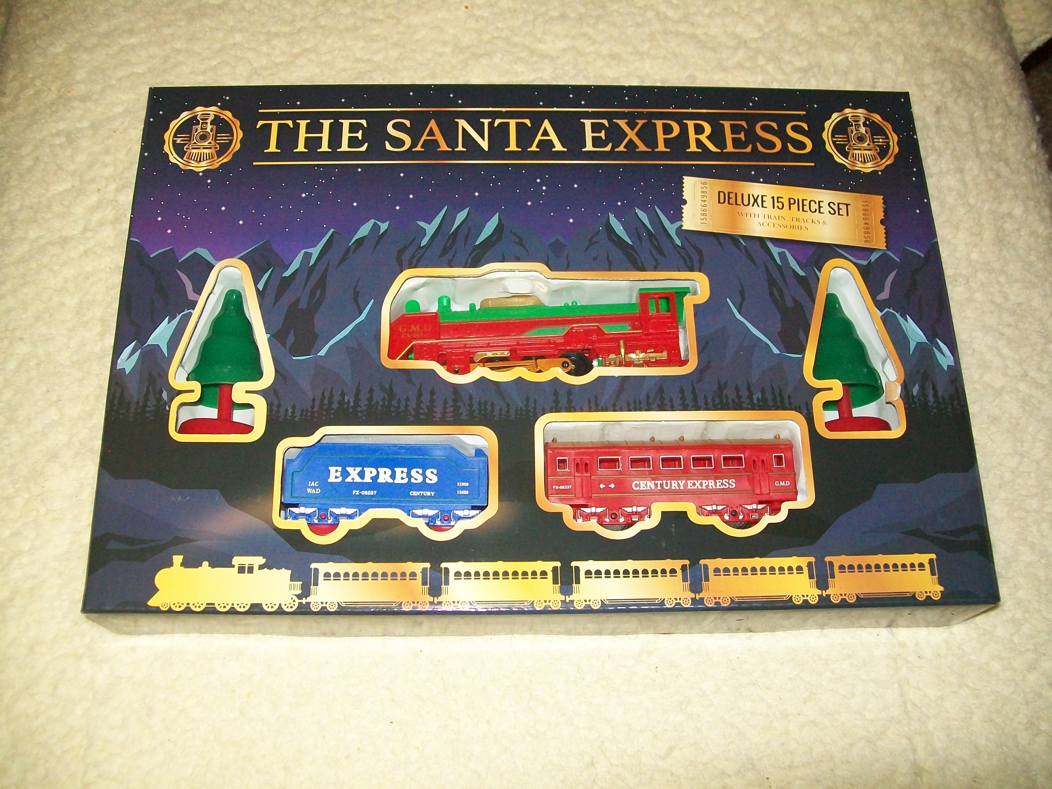 Rail king league lines Christmas theme toy train set
