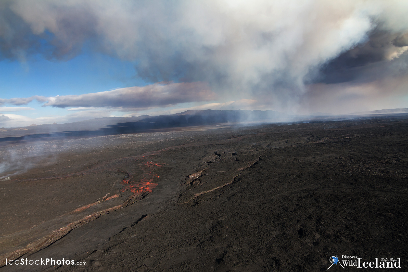 Eruption at Holuhraun in the Highlands of #Iceland
