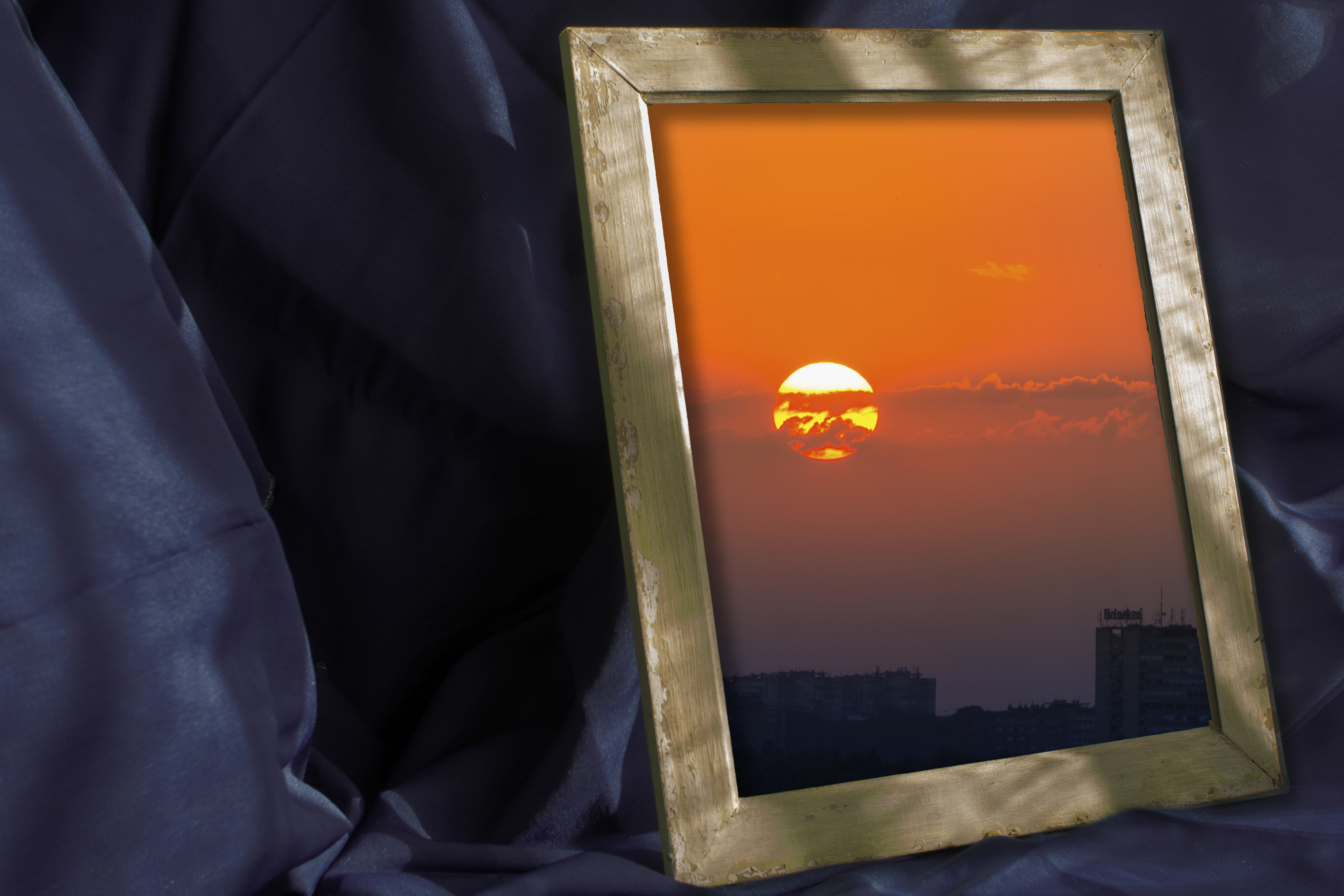 Sunset in a frame