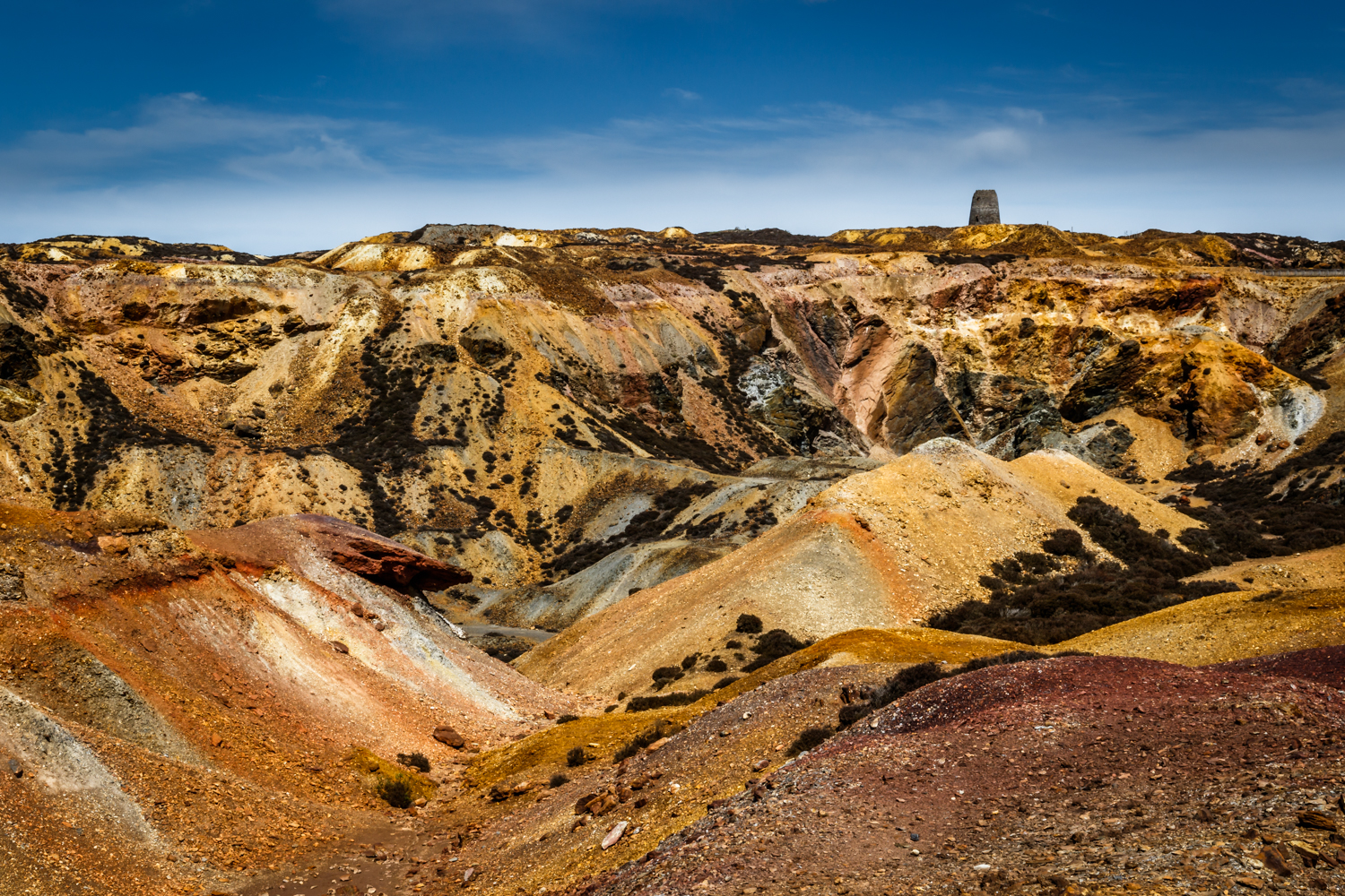 Anglesey - The Great Opencast on Parys Mountain (a.k.a. copper mountain)