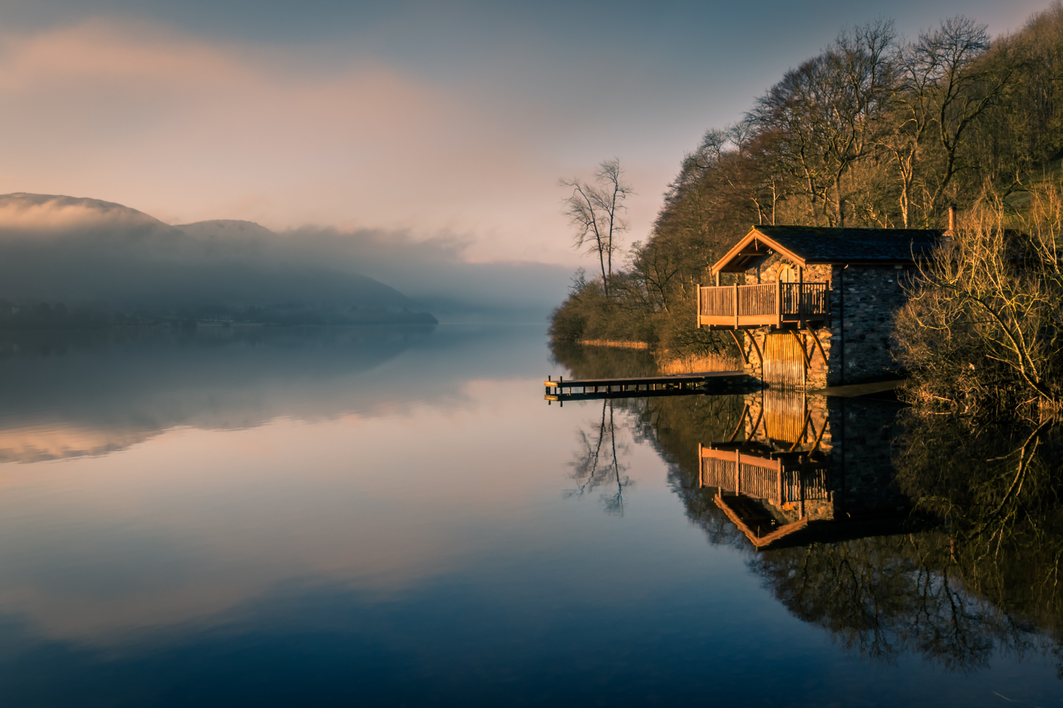 The English Lake District - The boathouse at Pooley Bridge, Ullswater