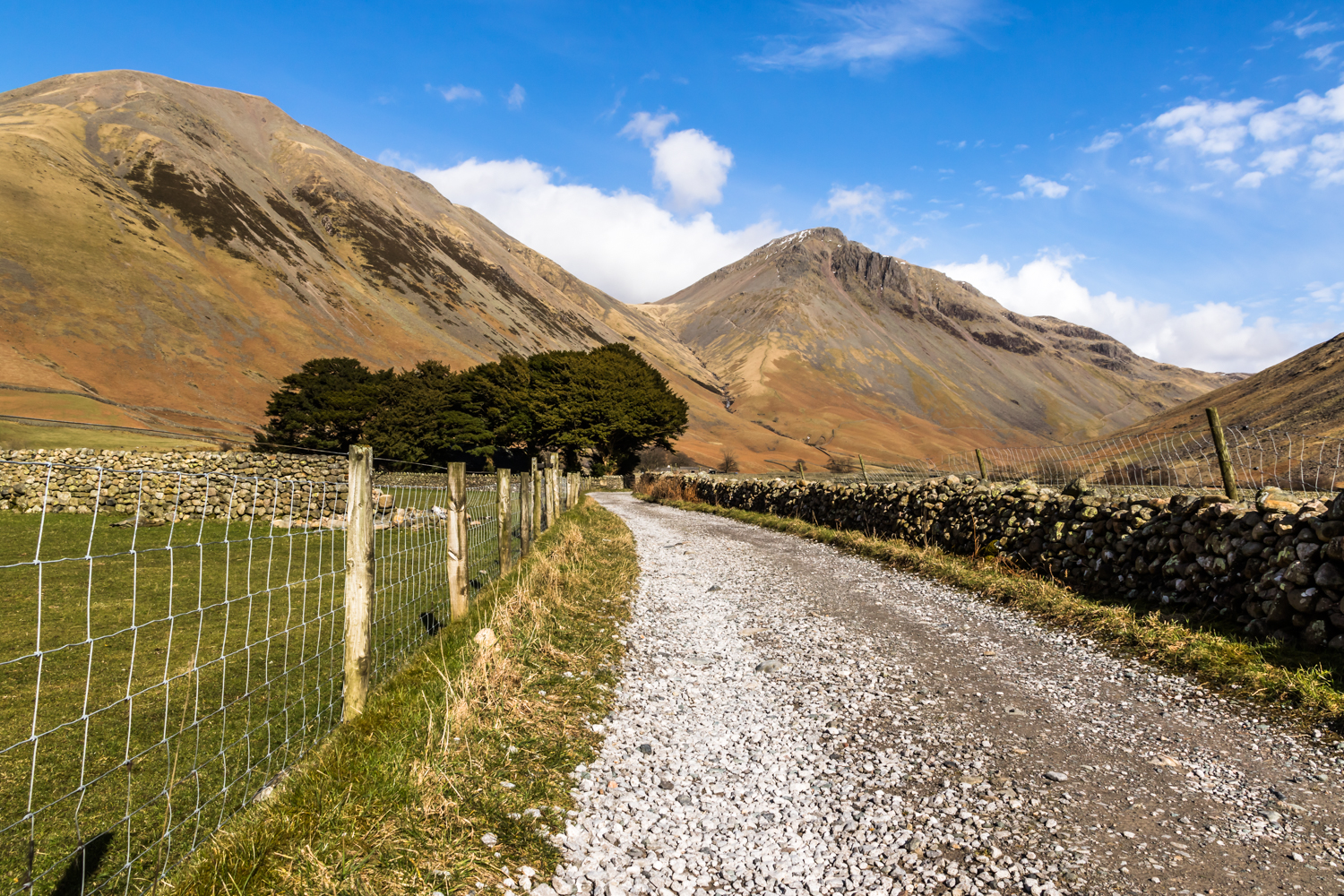 The English Lake District - The track to St Olaf's Church, Wasdale