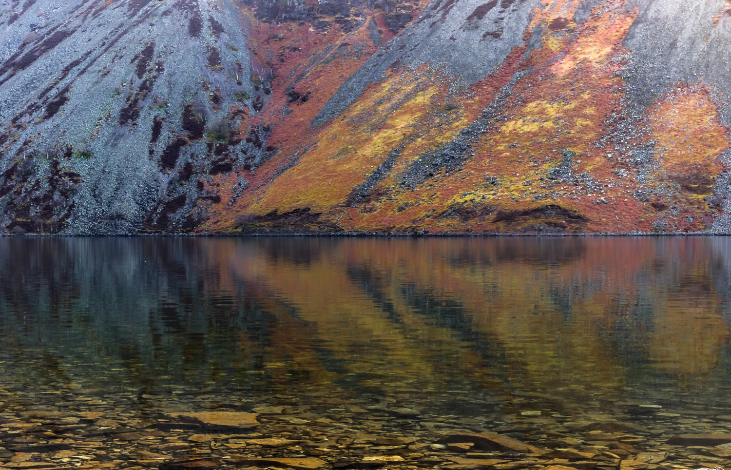 The English Lake District - Wastwater scree reflections 2