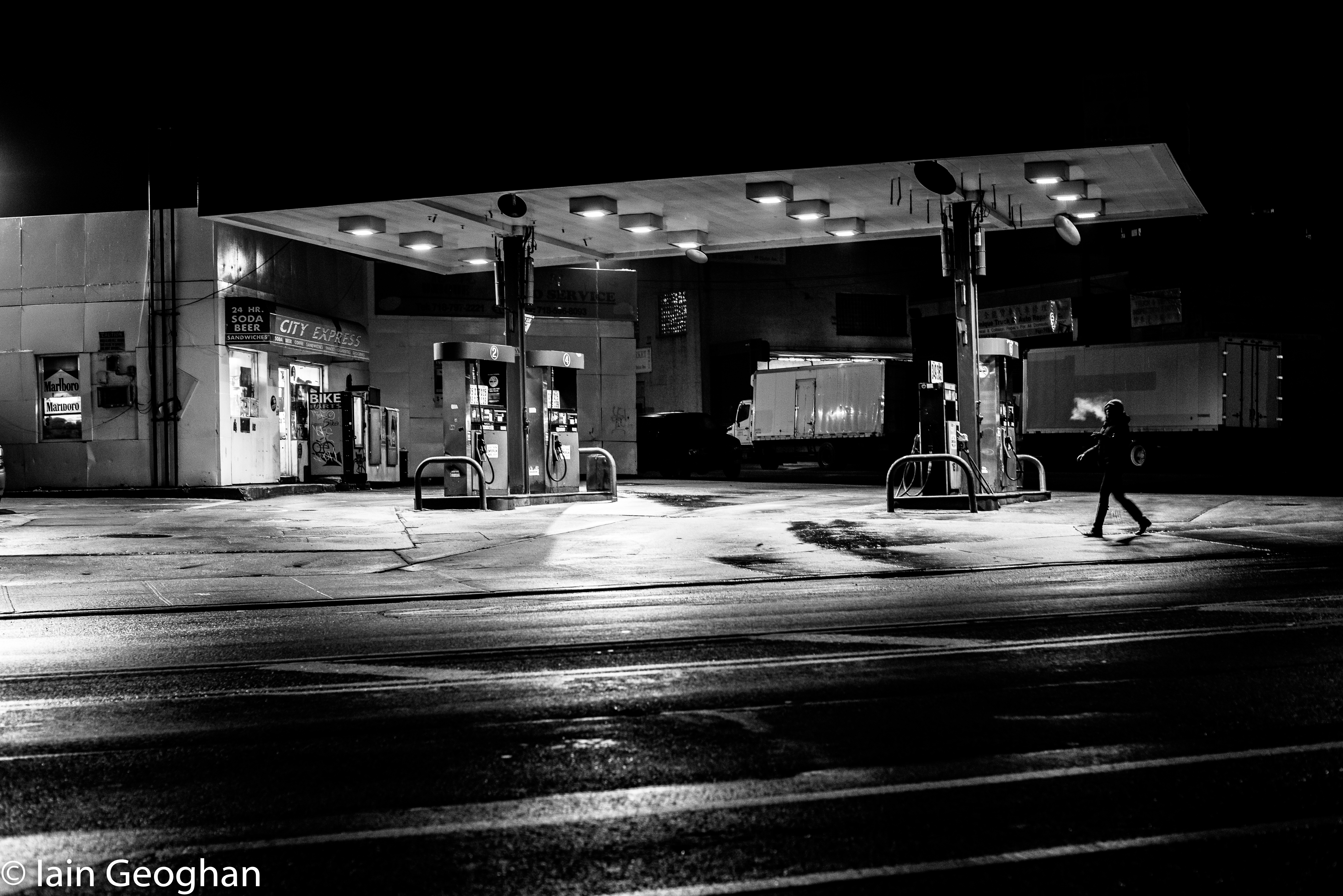 creepy old gas station