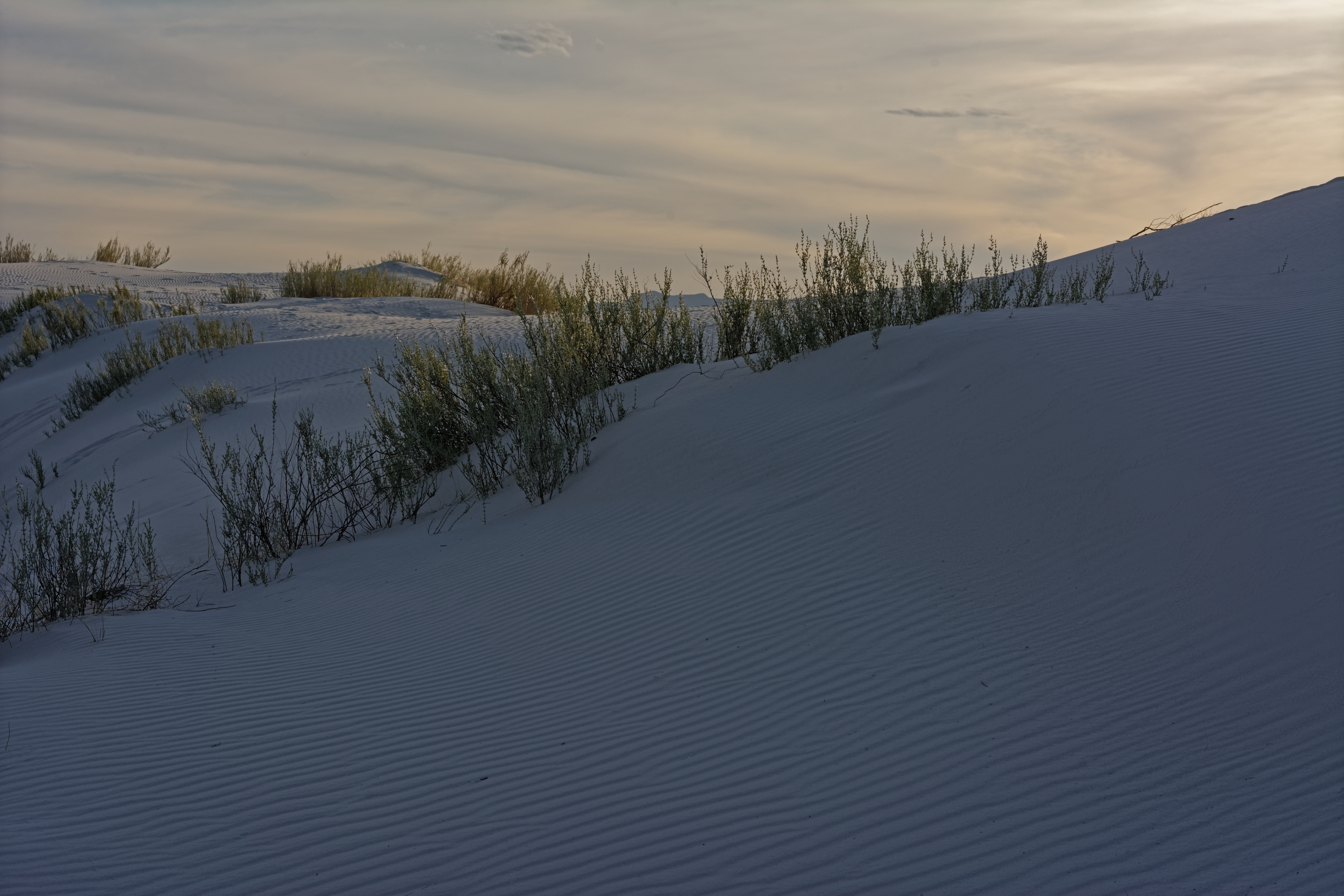 Clouds and sand dunes - 8815