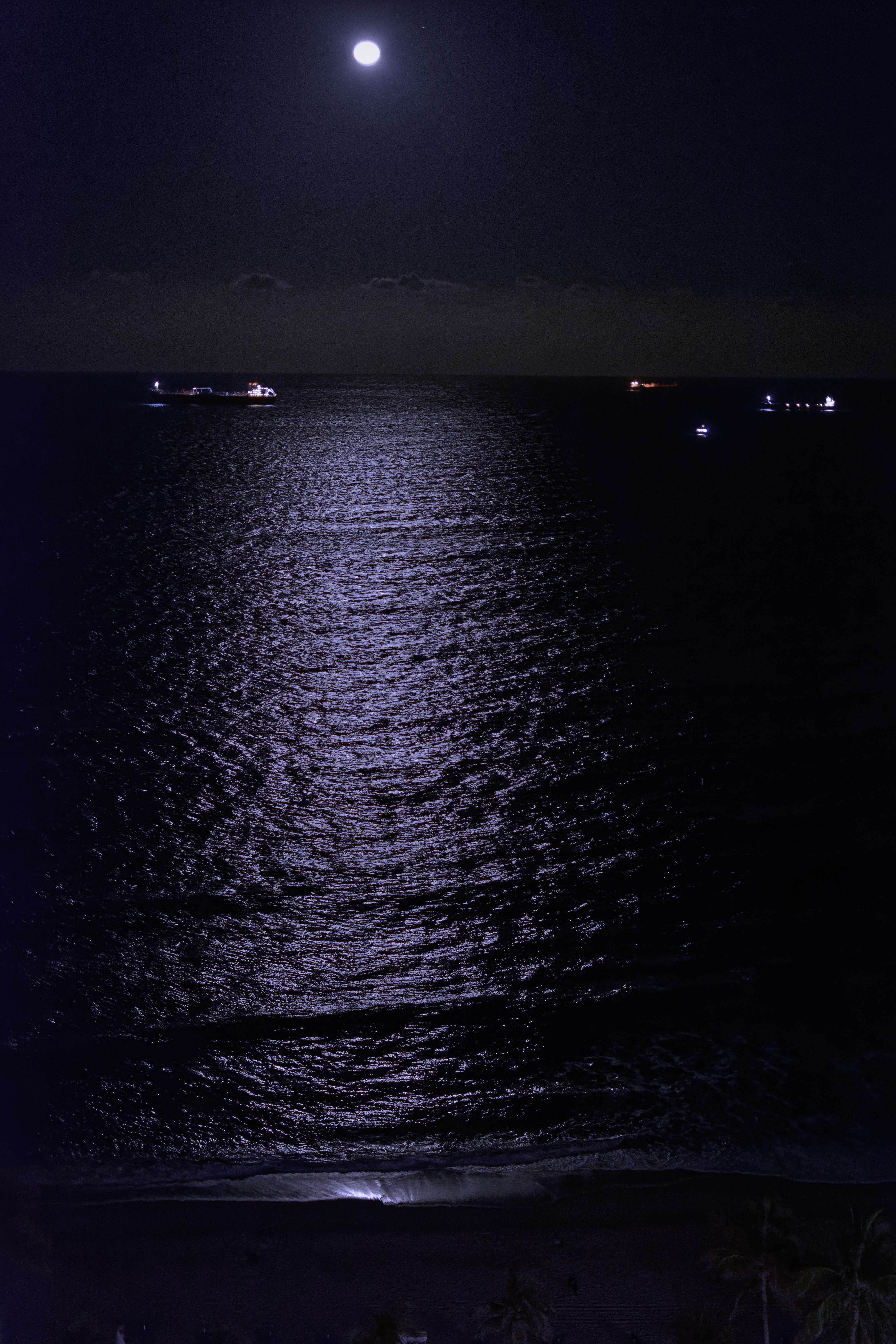 Moonlight across the ocean - 7264